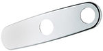 Grohe - 	07 555 000 10-inch Chrome Plated Two Hole Escutcheon