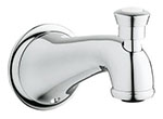 Grohe - 	13 603 000 6-inch  Chrome Plated Div Tub Spt