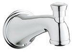 Grohe - 	13 610 000 6-inch Chrome Plated Div Tub Spt