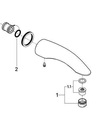 Grohe 13618000 - Parts Breakdown