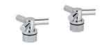 Grohe - 	18 026 000 Chrome Plated H&C Trio Spoke Handle (2)