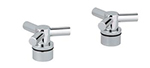 Grohe - 	18 033 000 Chrome Plated H&C Trio Spoke Handle (2)