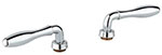 Grohe - 	18 732 000 Chrome Plated H&C Lever Handle (2)