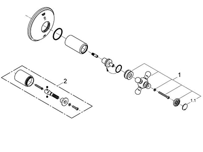 Grohe 19219BE0 - Parts Breakdown