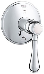 Grohe - 	19 220 000 Chrome Plated 3-Port Div Trim