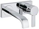 "Grohe 19387000 - Allure lever 2-hole wall mount vessel, 8 3/4"" spout"