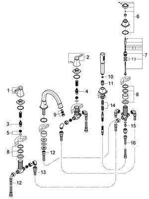 Grohe 19919EN0 - Parts Breakdown