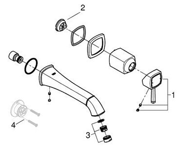Grohe 19931000 - Parts Breakdown