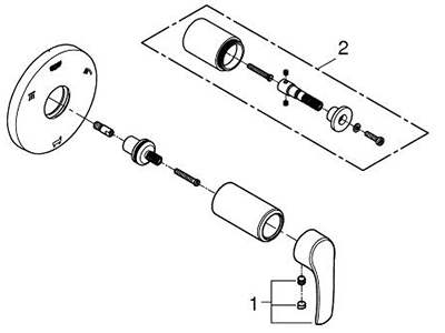 Grohe 19972002 - Parts Breakdown