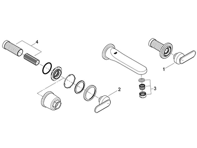Grohe 20183000 - Parts Breakdown