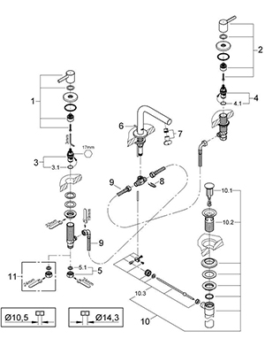 Grohe 20297000 - Parts Breakdown