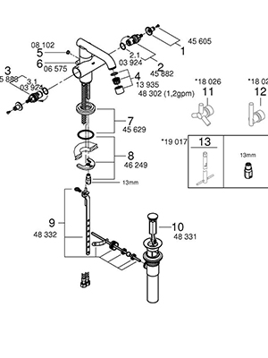 Grohe 21031EN0 - Parts Breakdown