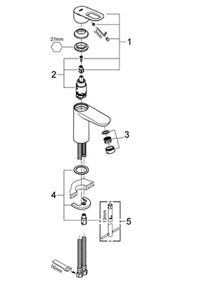 Grohe 23085000 - Parts Breakdown