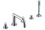 Grohe - 	25 049 000 Chrome Plated 5-Hole Roman Tub without Handles