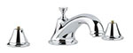 Grohe - 	25 055 000 Chrome Plated 3-Hole Roman Tub Filler