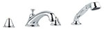 Grohe - 	25 502 000 Chrome Plated Tub Filler w/ HandShower