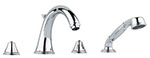 Grohe - 	25 506 000 Chrome Plated Tub Filler w/ HandShower