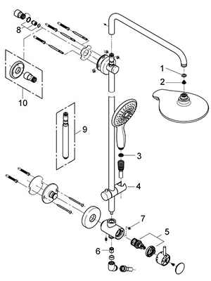 Grohe 26126000 - Parts Breakdown