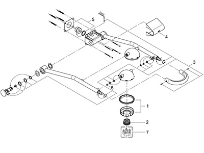Grohe 27007000 - Parts Breakdown