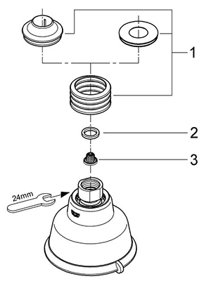 Grohe 27126ZB0 - Parts Breakdown