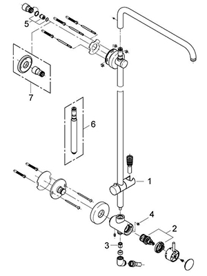 Grohe 27868000 - Parts Breakdown