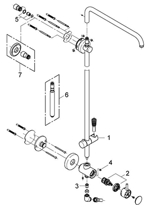 Grohe 27920000 - Parts Breakdown