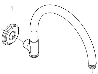 Grohe 28383ZB0 - Parts Breakdown