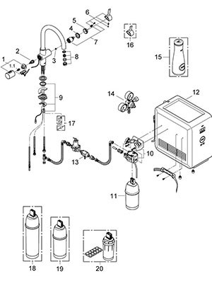 Grohe 31251000 - Parts Breakdown