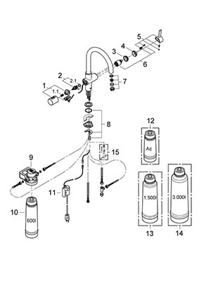 Grohe 31312001 - Parts Breakdown