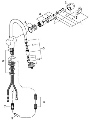 Grohe 32256SD0 - Parts Breakdown