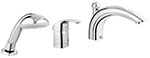 Grohe 32644001 - Eurosmart 3-hole tub filler w hand showe