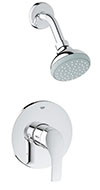 Grohe 35014002 Eurosmart 2015 PBV set conc. shower US (Chrome)