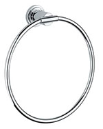 Grohe - 	40 307 000 8-inch Chrome Plated Towel Ring