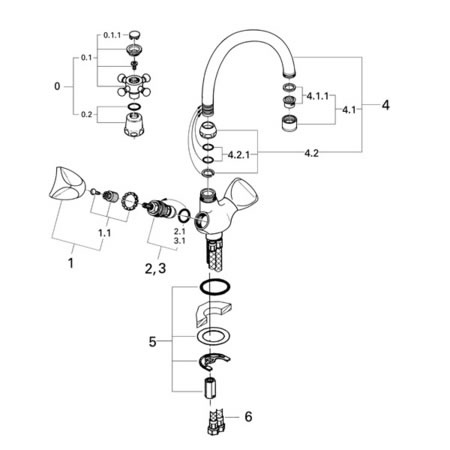 Grohe 31054000 - Parts Breakdown